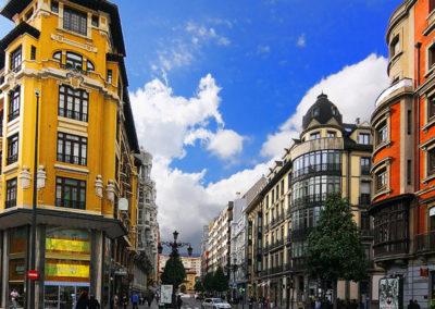 Uría Street in Oviedo
